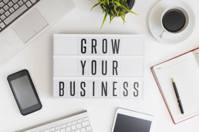 Image of grow your business on a lightbox