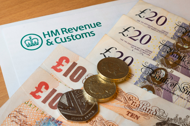 Image of money and tax return